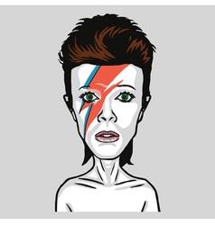David Bowie Caricature Portrait vector image
