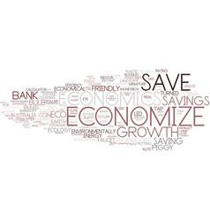 Economize word cloud concept vector