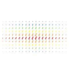 Falling airplane spectral halftone pattern vector