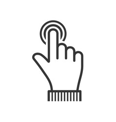 Finger touch icon on white background vector
