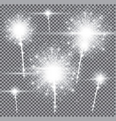 Fireworks on transparent background vector