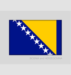flag of bosnia and herzegovina national ensign vector image