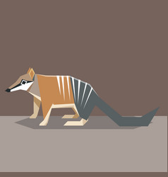 Flat design numbat vector