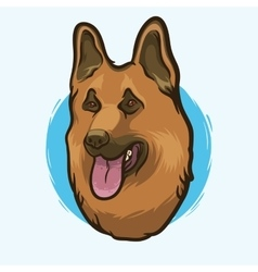 German Shepherd Dog Breed vector