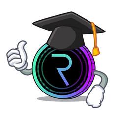 Graduation request network coin character cartoon vector