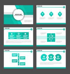 Green light presentation templates infographic set vector