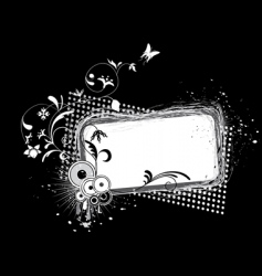 grunge frame black and white vector image