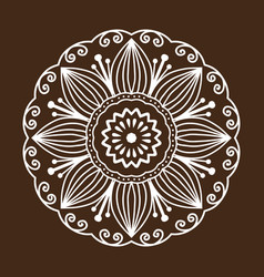 Henna tattoo mehndi flower template doodle vector
