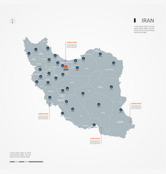 Iran infographic map vector