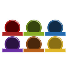 label design in six colors vector image