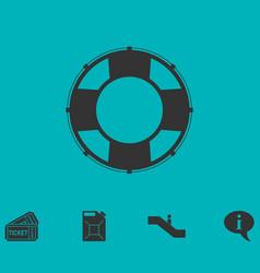 Lifebuoys icon flat vector