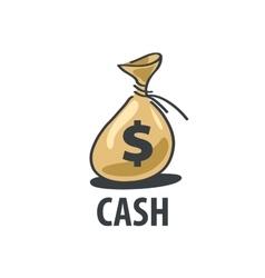 logo bag of money vector image