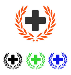Medical glory flat icon vector