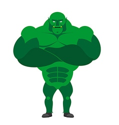 Monster BODYBUILDER on a white background Monster vector image