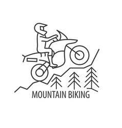 Motorbike line icon vector