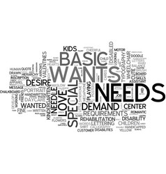 Needs word cloud concept vector