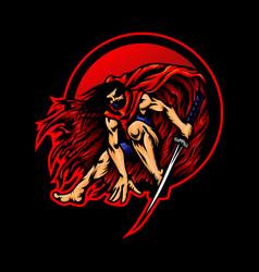Ninja mascot logo esports vector