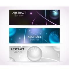 Nuclear atom banners nanotechnologies vector
