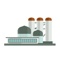 nuclear plant or industrial factory building vector image