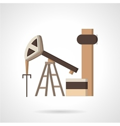 Oil pump jack flat color icon vector