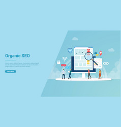 organic seo concept for website template or vector image