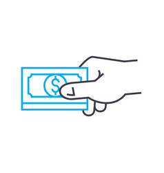 payment for goods or services thin line vector image