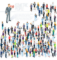 People crowd isometric abstract vector