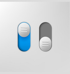 Phone switch icon on off toggle for design vector