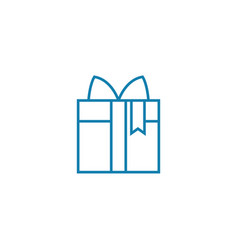 purchasing a gift linear icon concept purchasing vector image