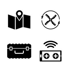 quadrocopter simple related icons vector image