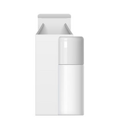 Realistic white cosmetic bottle and packaging vector