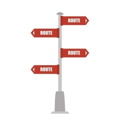 Road sign direction vector
