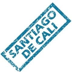 Santiago de Cali rubber stamp vector