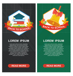 School banners green black vector