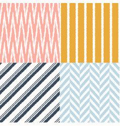 seamless modern geometric textile background vector image