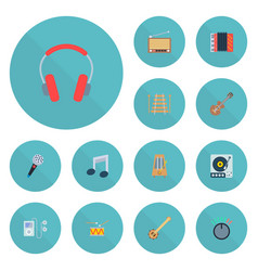 Set of studio icons flat style symbols with vector