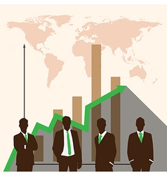 Silhouette people of business concept vector