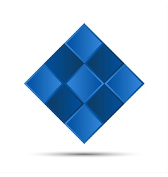 Simple blue graphic symbol vector image