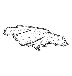 sketch of a map of jamaica vector image