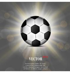 Soccer ball web icon flat design vector image