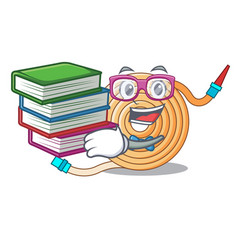 Student with book the water hose mascot vector