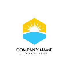 Sunrise logo designs template sun icon symbol vector