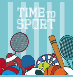 time to sport concept vector image