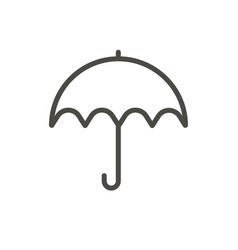 umbrella icon line protection symbol vector image