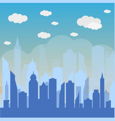 urban landscape background vector image