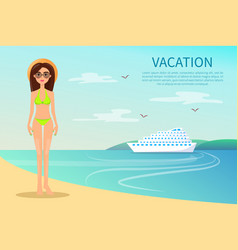 Vacation colorful poster vector