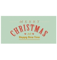 Vintage christmas sign text retro vector image