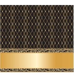 Vintage lace background vector image