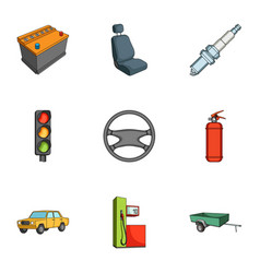 Wheel wrench jack and other equipment car set vector