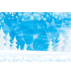 Winter landscape with forest vector